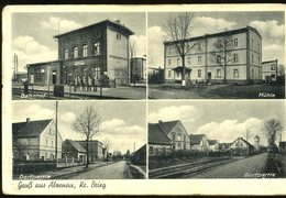Gruss Aus Alzenau Brieg Bahnhof Muhle Dorfpartie Carl Groger Carte Décollée Ungestaute Karte - Allemagne