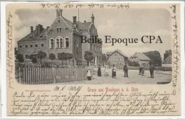 Niedersachsen - GRUSS Aus NEUHAUS A. D. OSTE - Umtsgerichtsgebäude ++++ To Hoboken, NJ, USA, 1900 +++ RARE - Allemagne