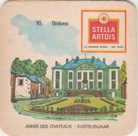 Sous  Bock  - Stella Artois  - Kastelenjaar  -   Braives Nr 16 - Sous-bocks