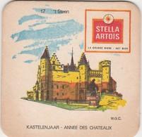 Sous  Bock  - Stella Artois  - Kastelenjaar  -   T' Steen  Nr 17 - Sous-bocks