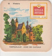 Sous  Bock  - Stella Artois  - Kastelenjaar  -   Westerlo  Nr 19 - Sous-bocks