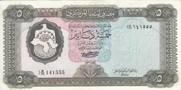 LIBYA 5 DINAR 1972 P-36b SIG/SHERLALA XF HIGH CRISP */* - Libya