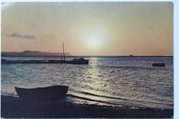 Atardecer En Puerto Colombia, 1959, Postcard With Stamps Gaitan, El Mono De La Pila Tunja - Colombia