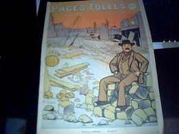 Revue BD Intituée  Pages  Folles 6 Juin  1909 Revue Comique 15 Pages - Livres, BD, Revues