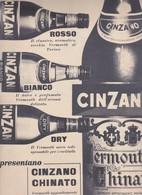 (pagine-pages)PUBBLICITA' CINZANO  Oggi1956/15. - Books, Magazines, Comics