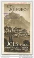 Igls Tirol - Hotel Iglerhof 30er Jahre - Faltblatt Mit 9 Abbildungen - Oesterreich