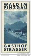 Wald Im Pinzgau - Gasthof Strasser 30er Jahre - Faltblatt Mit 16 Abbildungen - Oesterreich