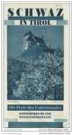 Schwaz In Tirol 30er Jahre - Faltblatt Mit 12 Abbildungen - Oesterreich