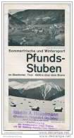 Pfunds-Stuben 30er Jahre - Faltblatt Mit 5 Abbildungen - Oesterreich