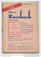 Kleines Kursbuch - Für Berlin Brandenburg Mecklenburg Vorpommern Sachsen Oktober 1946 - Europe