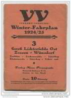 VV Vorort-Verkehr - Winter-Fahrplan 1924/25 - Verlag Neue Propaganda Zossen - 18 Seiten Postkartengrösse - Europe