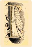 Wilhelm Busch S-t-a-m-p-ed Stamp Printed Card 10 DIFF 3 - Cómics
