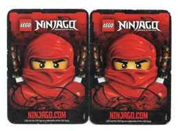2 CARTES LEGO Ninjago - Trading Cards