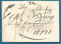 (D039) LAC De Naples (NAPOLI) Vers Paris Du 6/1/1818 - Italie Pont De Beauvoisin - T.S. Transit Suisse - 1792-1815: Conquered Departments