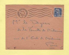 RBV - Paris Aviation Interieur - 24-9-1951 - Marianne De Gandon - Marcophilie (Lettres)