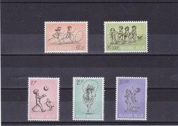 BELGIQUE 1966 JEUX D'ENFANTS Yvert 1399-1403 NEUF** MNH - Belgique