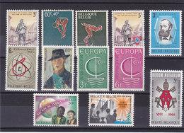 BELGIQUE 1966 Yvert 1360-1362 +  1367 + 1372-1373 + 1381-1384 + 1389-1390 NEUF** MNH - Belgique