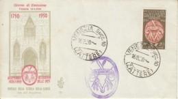 1950 -  ACCADEMIA BELLE ARTI - FDC VENETIA - 6. 1946-.. Repubblica