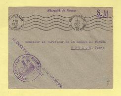 Franchise Du Commandant Du Centre D Administration Territorial De La 15e Region - Marseille - 7 Dec 1940 - WW II