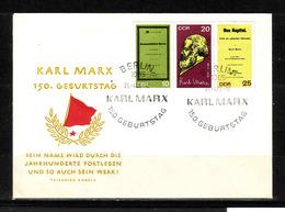 450j * DDR 1365/7 * FDC KARL MARX * MICHEL 8,00 * GESTEMPELT **!! - DDR