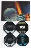 6 CARTES STAR WARS *Yan Solo *Stormtrooper  *BB-8  *Poe Dameron  *Chirrut  *Qui-Gon Jinn - Star Wars