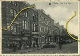 Tamines  : Place De La Gare  :  VW Kever   ( Format 15 X 10.5 )  Ecrit Avec Timbre - Sambreville
