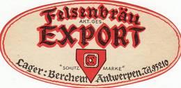 "Bierbrouwerij "" Lager Berchem - Felsenbrau EXPORT - - Beer"