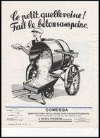 FEUILLE   COMESSA      CONSTRUCTION   METALLIQUES    A  SCHILTIGHEIM - Vieux Papiers