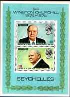 71682) SEYCHELLES  Churchill, 1974 Birth Centenary  -MNH** BF.4 - Seychelles (1976-...)
