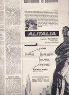 (pagine-pages)PUBBLICITA' ALITALIA  L'europeo1956/554. - Books, Magazines, Comics