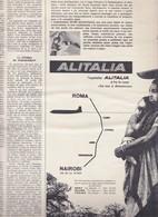 (pagine-pages)PUBBLICITA' ALITALIA  L'europeo1956/553. - Books, Magazines, Comics
