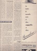 (pagine-pages)PUBBLICITA' BORSALINO  L'europeo1955/495. - Books, Magazines, Comics