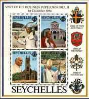 71691) SEYCHELLES 1986 VISITA DEL PAPA GIOVANNI PAOLO II°  -MNH** BF.30 - Seychelles (1976-...)