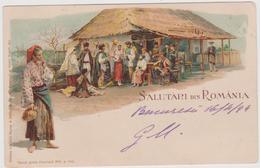 Litho Gruss, Salutari Din Romania - F.p. - Fine 1890 - Romania