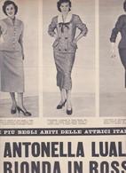 (pagine-pages)GLI ABITI DI ANTONELLA LUALDI  L'europeo1955/495. - Books, Magazines, Comics