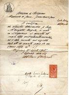 ##(ANT3)-1908-Comune Di Bregnano (Como)- Certificato Comunale Su Carta Da Bollo Lire 1 Con Marca Da Bollo Applicata - Italy