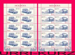 MOLDOVA 2013 Europa CEPT Post Mail Transport Vehicle Car Horse Carriage 2 Sheetlets Mi Klb.829-Klb.830 Scott 784-785 MNH - Post