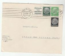 1939 Hamburg COVER  STAMP With TELEGRAMME LABEL SELVEDGE Germany Telegram - Germany