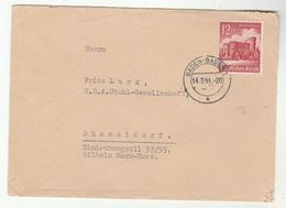 1941 Baden Baden Germany COVER  Winter Relief Stamp - Germany