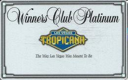 Tropicana Casino Las Vegas, NV - BLANK Slot Card With (I) Over Mag Stripe - Casino Cards