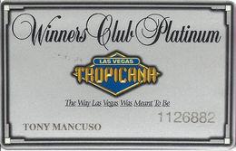 Tropicana Casino Las Vegas, NV - Slot Card With PPC Over Mag Stripe & 4 Logos On Reverse - Casino Cards