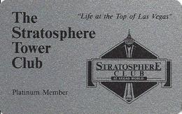 Vegas World - Stratosphere Tower Club Platinum Member Card - Casino Cards
