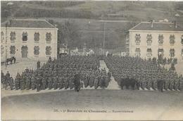 88 REMIREMONT  . 5ème Bataillon De Chasseurs , Rassemblement , édit : A Gelly , écrite En 1909 , état Extra - Remiremont