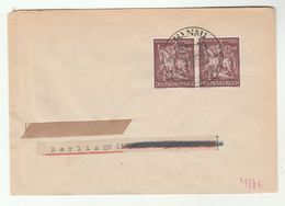 1940s Germany ST GEORGE & DRAGON Stamps COVER Hannau , Knight Horse  Saint George - Germany