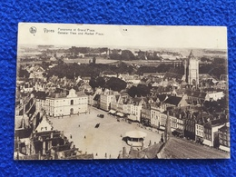 Ypres, Panorma Of Market Place, Posted But No Stamp Or Legible Cancelation Mark - Belgium