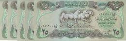 IRAQ 25 DINAR 1982 P-72 HORSES LOT X 10 UNC NOTES */* - Iraq