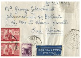 (109) Italy To South Africa Cover - 1948 - 6. 1946-.. Republik