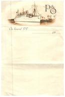 (109) Old Letter Paper Sheet From P*O Cruise Ship Liner - Papier A Lettre De P&O Cruises (1 Feuille / 1 Sheet) - Vieux Papiers