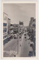 [338] MANILA, Rizal Avenue,- CPA, Vintage Postcard, Postal Antigua. Cars, Bus / Voitures / Coches, Autobuses / Macchine. - Philippines