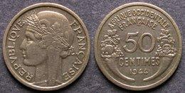 AFRIQUE OCCIDENTALE FRANCAISE   50 Centimes  1944  AOF   FRENCH WESTERN AFRICA   PORT OFFERT - Mauretanien